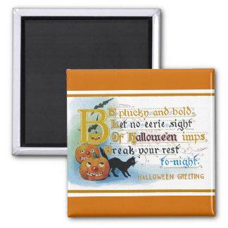 Vintage Halloween Greeting Card Magnet