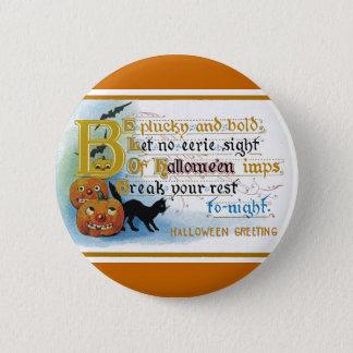 Vintage Halloween Greeting Card Pinback Button
