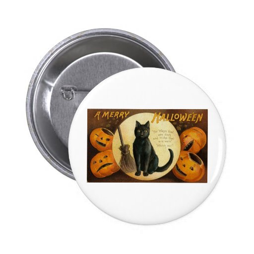 Vintage Halloween Greeting Cards Classic Posters 2 Inch Round Button
