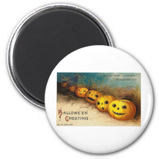 Vintage Halloween Greeting Cards Classic Posters 2 Inch Round Magnet