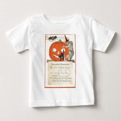 Vintage Halloween Greeting Cards Classic Posters Baby T-Shirt