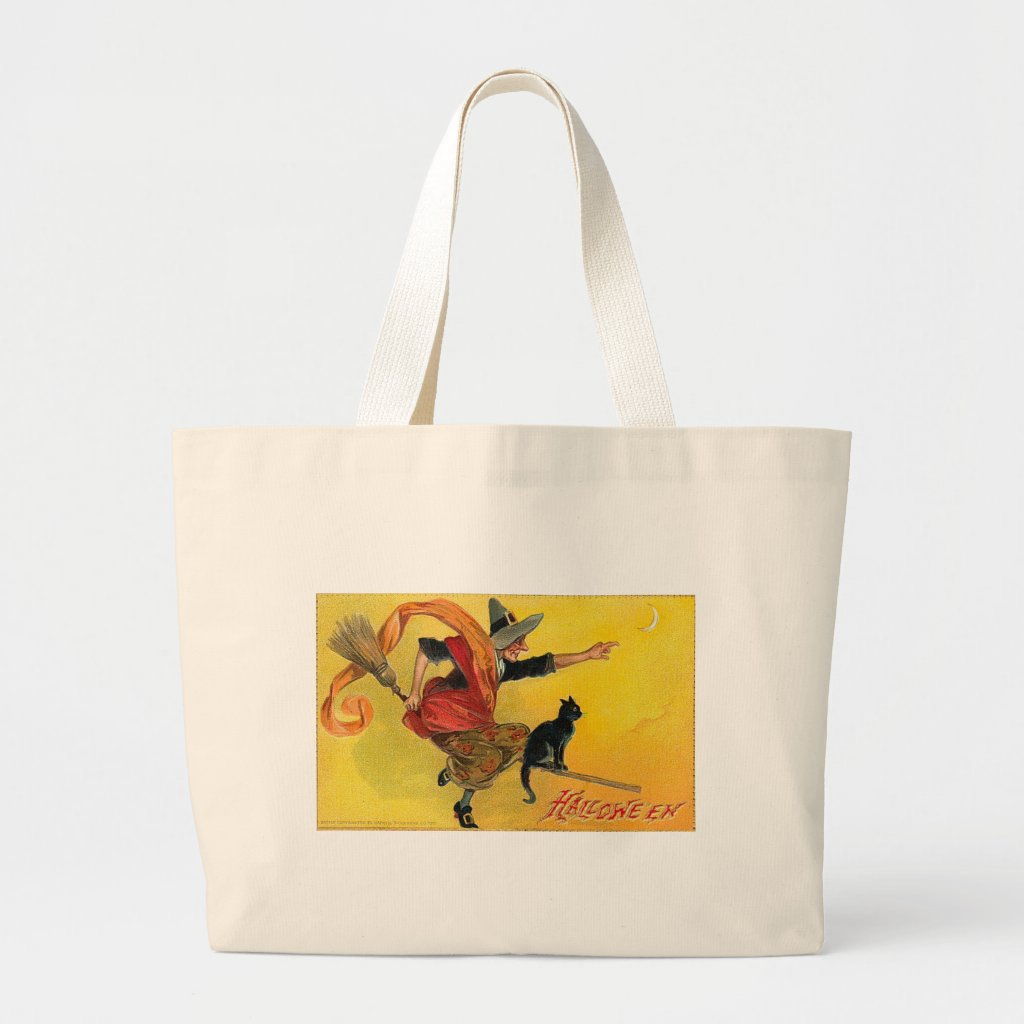 Vintage Halloween Greeting Cards Classic Posters Tote Bags