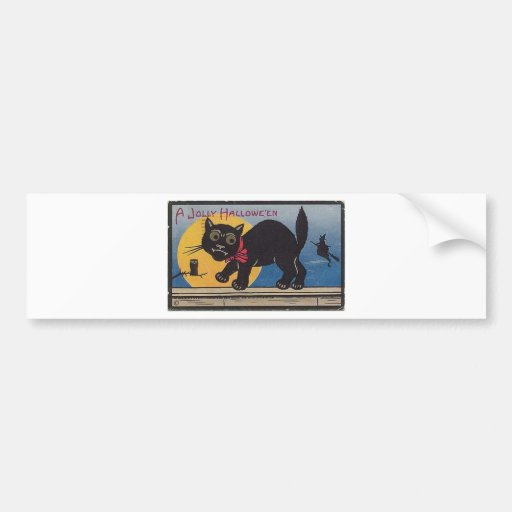 Vintage Halloween Greeting Cards Classic Posters Bumper Stickers