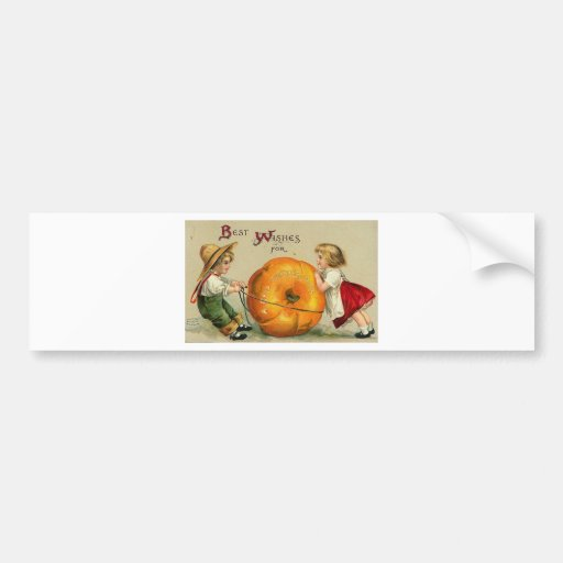 Vintage Halloween Greeting Cards Classic Posters Bumper Sticker