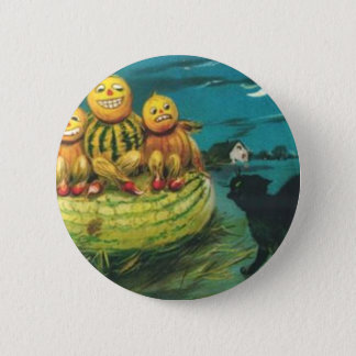 Vintage Halloween Greeting Cards Classic Posters Button