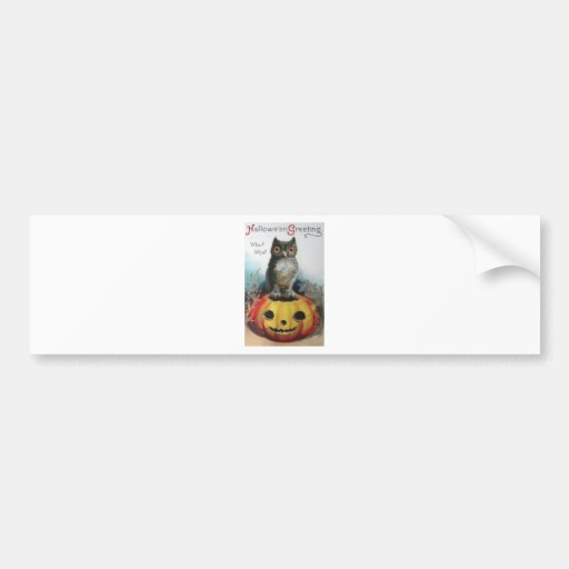 Vintage Halloween Greeting Cards Classic Posters Car Bumper Sticker