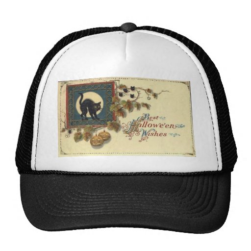 Vintage Halloween Greeting Cards Classic Posters Hat
