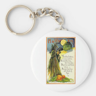 Vintage Halloween Greeting Cards Classic Posters Keychain