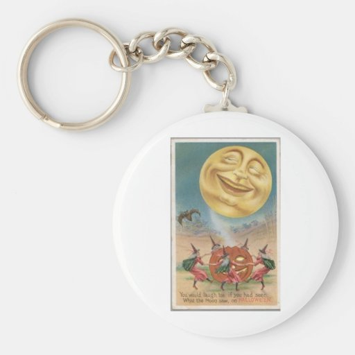 Vintage Halloween Greeting Cards Classic Posters Key Chain