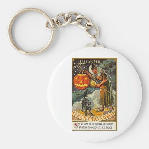 Vintage Halloween Greeting Cards Classic Posters Keychains