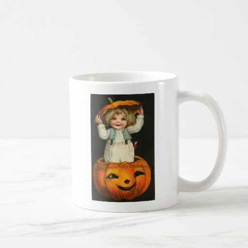 Vintage Halloween Greeting Cards Classic Posters Classic White Coffee Mug