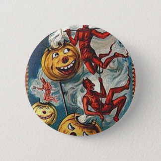 Vintage Halloween Greeting Cards Classic Posters Pinback Button