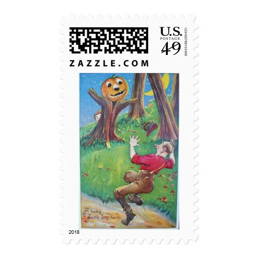 Vintage Halloween Greeting Cards Classic Posters Postage Stamp