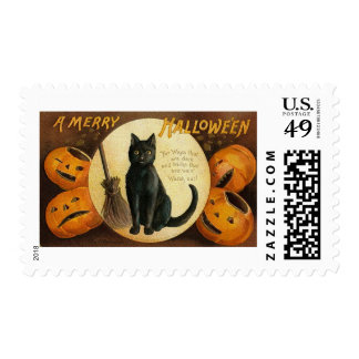 Vintage Halloween Greeting Cards Classic Posters Postage Stamps