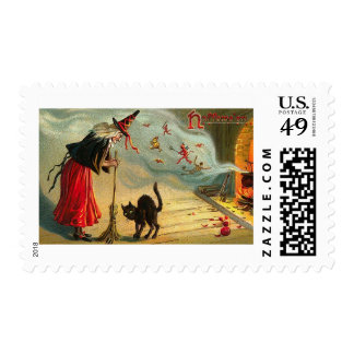 Vintage Halloween Greeting Cards Classic Posters Stamp