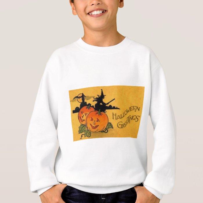 Vintage Halloween Greeting Cards Classic Posters Sweatshirt