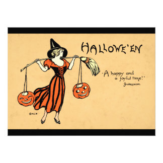 Vintage Halloween Greeting Personalized Invite
