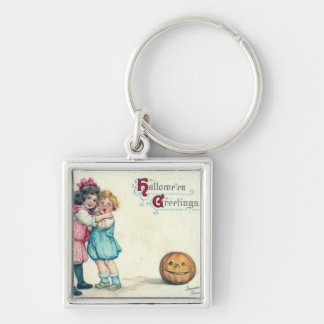 Vintage Halloween Greeting Keychain