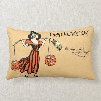 Vintage Halloween Greeting Pillow