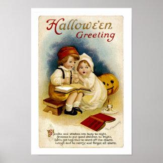 Vintage Halloween Greeting Posters
