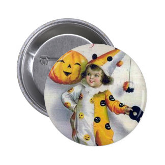 Vintage Halloween Greetings Buttons