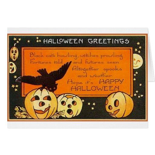 Vintage Halloween Greetings Card