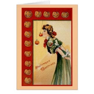 """""""Vintage Halloween Greetings"""" Greeting Card"""