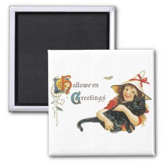 Vintage Halloween Greetings Magnet