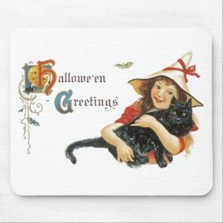 Vintage Halloween Greetings Mouse Pad