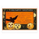 Vintage Halloween Greetings Post Cards