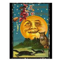 Vintage Halloween Greetings Postcard