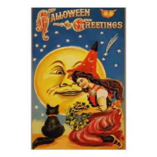 Vintage Halloween Posters | Zazzle
