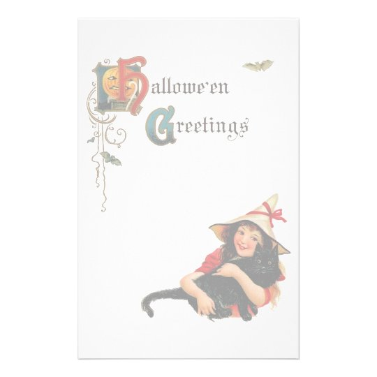 Vintage Halloween Greetings Stationery