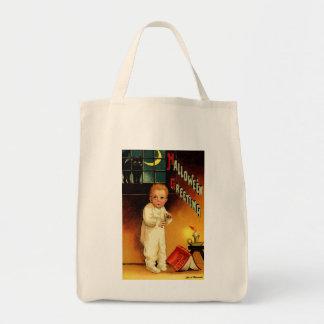 Vintage Halloween Greetings Tote Bag