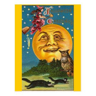 Vintage - Halloween - Halloween Greetings Postcard