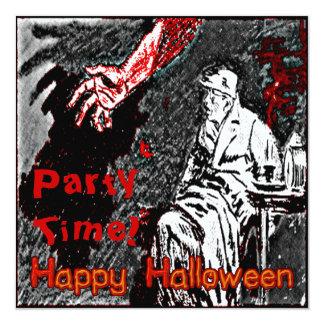Vintage Halloween Hand in the Dark Card