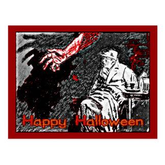 Vintage Halloween Hand in the Dark Postcard