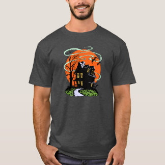 Vintage Halloween Haunted House T-Shirt