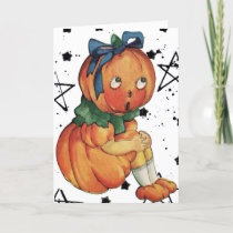 Vintage Halloween Holiday Card