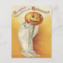 Vintage Halloween Holiday Postcard