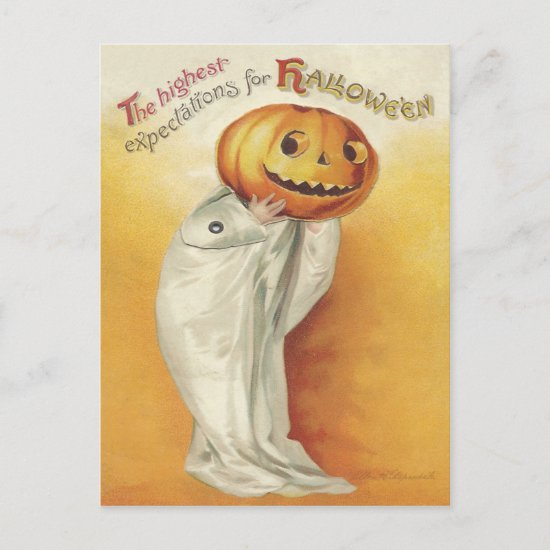Vintage Halloween Holiday Postcard