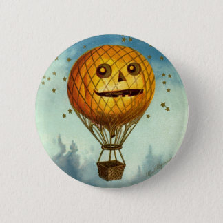 Vintage Halloween Hot Air Balloon Pin