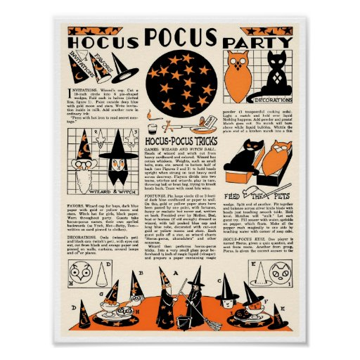 VINTAGE HALLOWEEN HOW-TO IDEAS PARTY POSTER