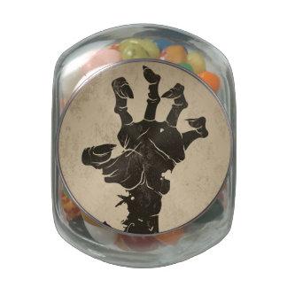 Vintage Halloween Icon - Zombie Hand Glass Jar