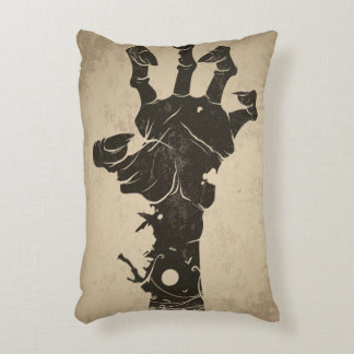 Vintage Halloween Icon - Zombie Hand Accent Pillow