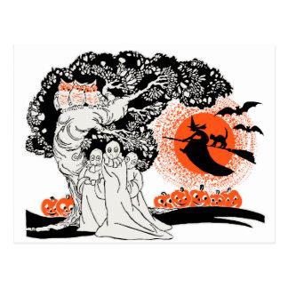 Vintage Halloween Illustration Post Cards