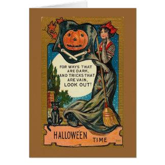 Vintage Halloween Image Card