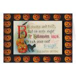 Vintage Halloween Imps Greeting Card