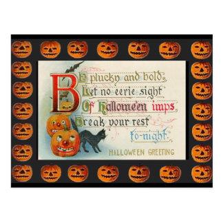 Vintage Halloween Imps Postcard