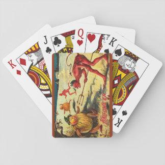 Vintage Halloween Interesting Devil Goblins Playing Cards